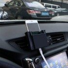 Phone Holder Car Outlet Wind storage BOX ( Include Perekat )